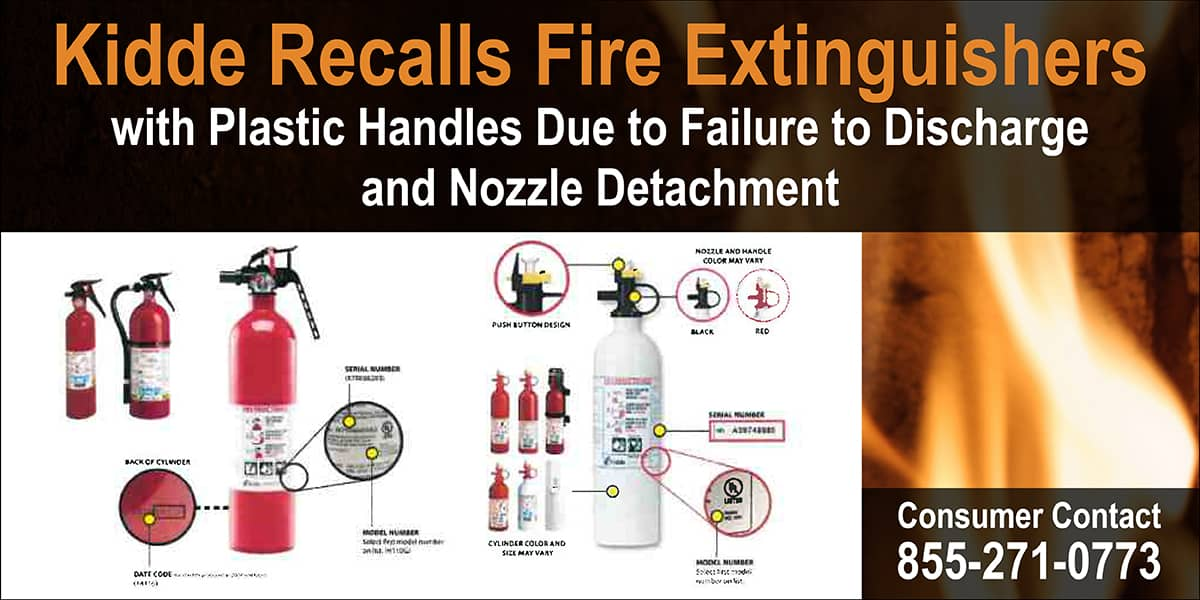 Kiddie Recalls Fire Extinguishers