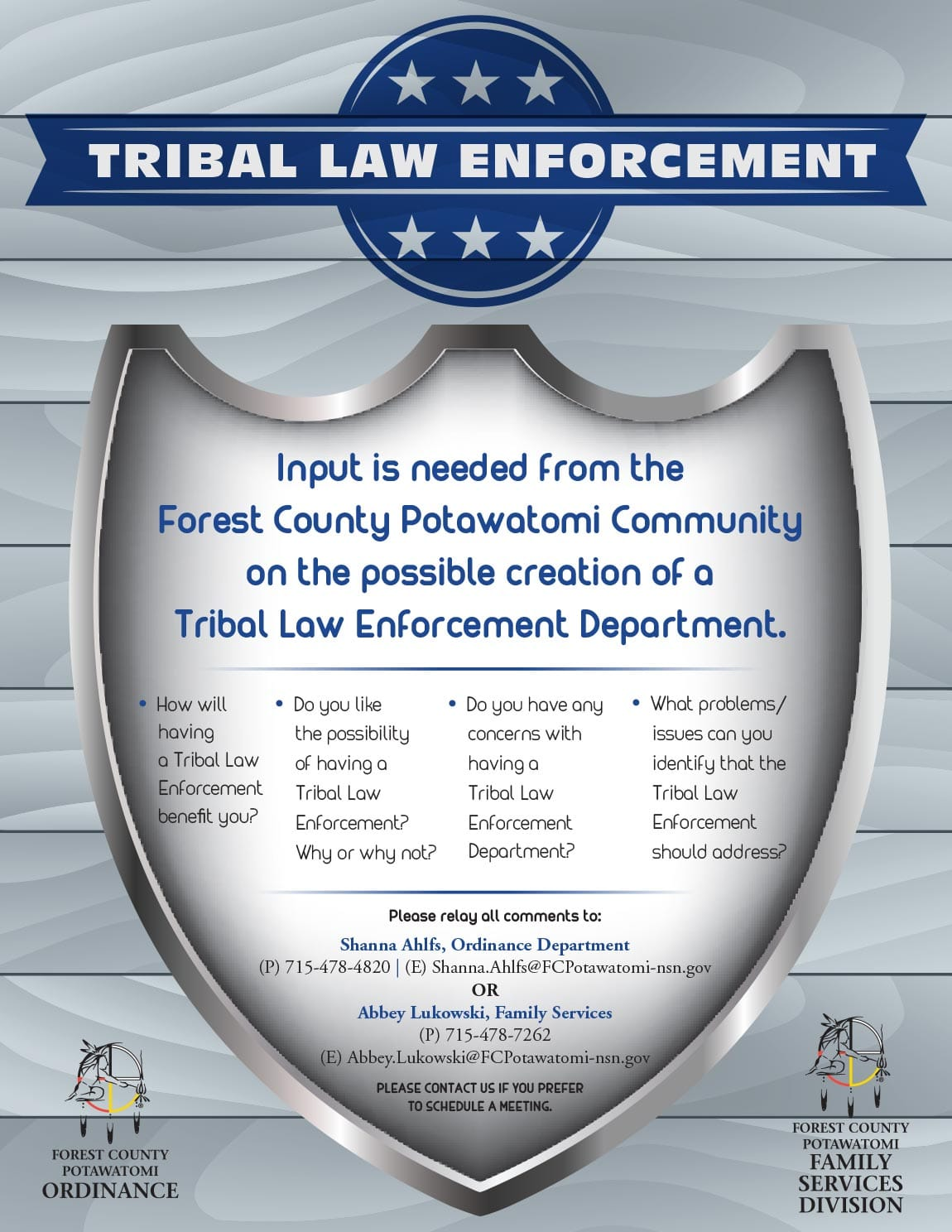 Tribal Law Enforcement Flyer